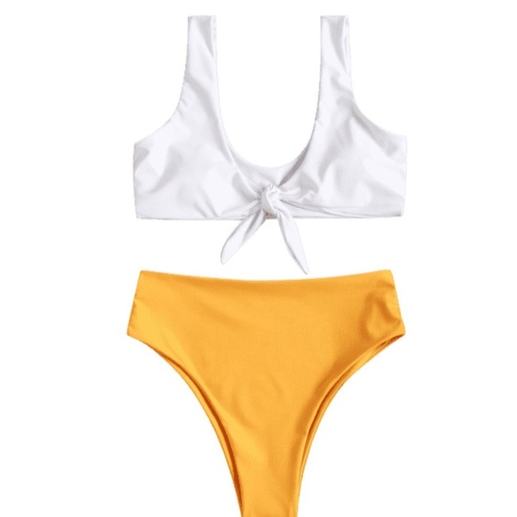 Other - High rise and knotted bikini set